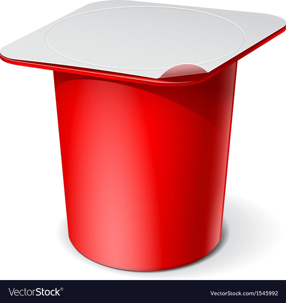Red realistic white blank plastic container for vector | Price: 1 Credit (USD $1)