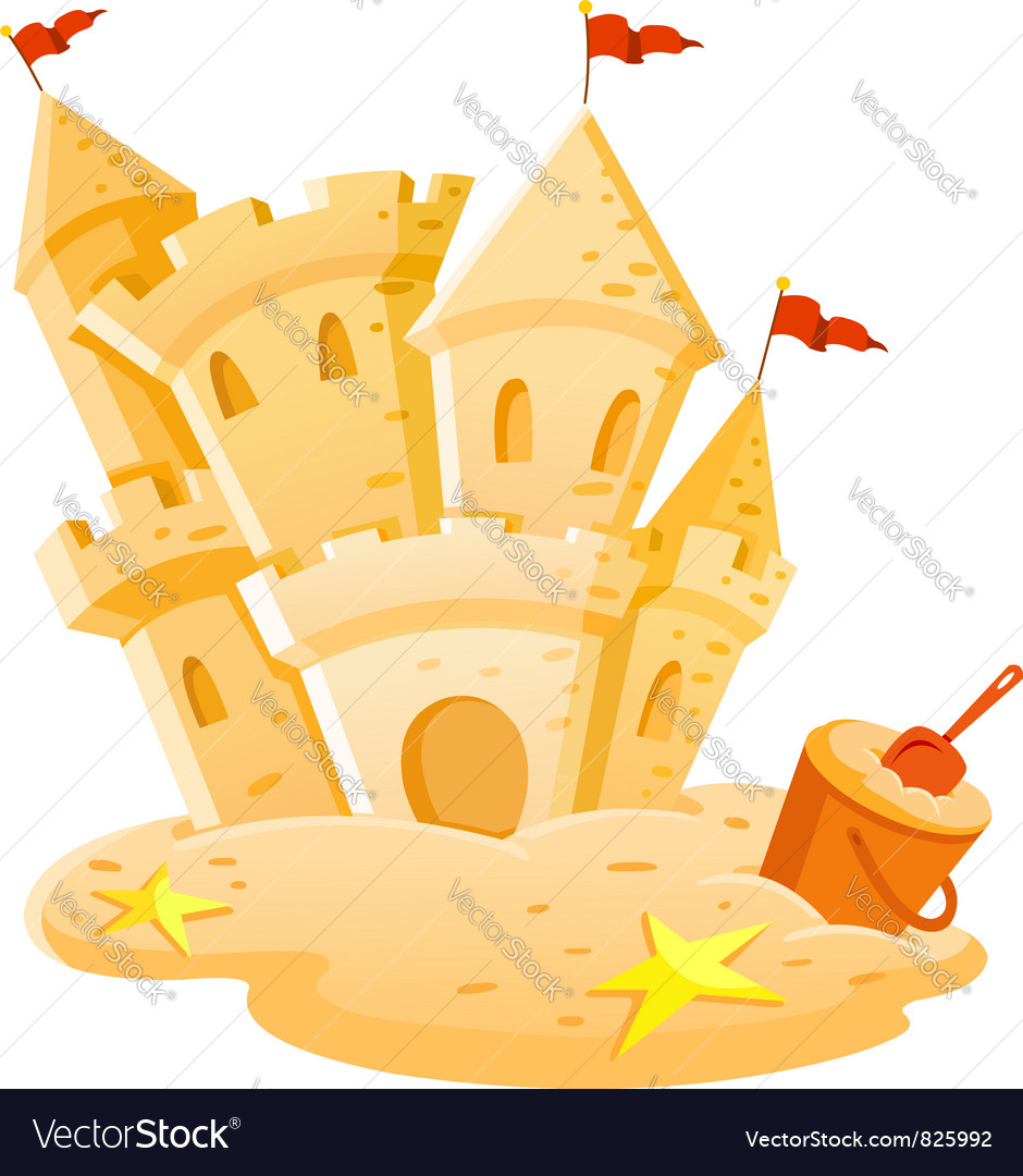 Sand castle vector | Price: 3 Credit (USD $3)