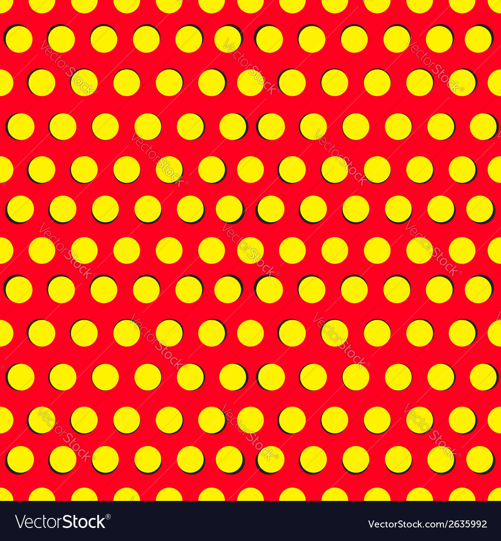 Seamless pattern with yellow circles vector | Price: 1 Credit (USD $1)