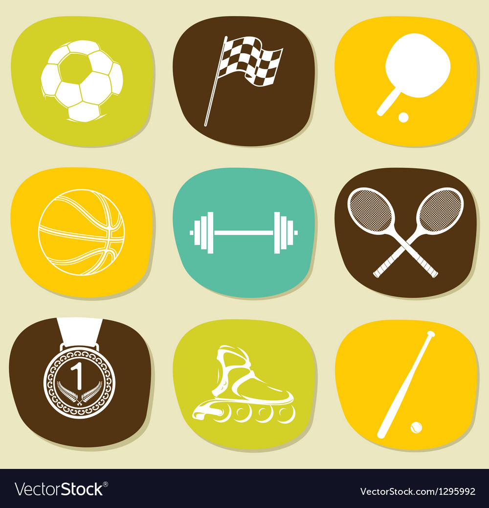 Sports icons set vector | Price: 1 Credit (USD $1)