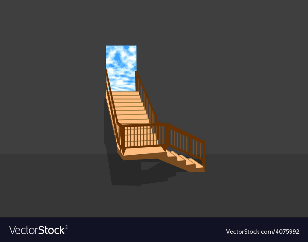Stair in sky vector | Price: 1 Credit (USD $1)