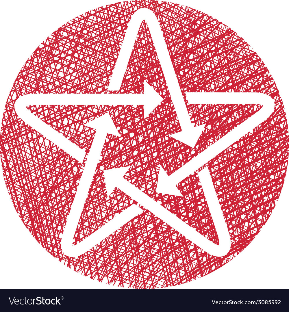 Star icon with arrows with hand drawn lines vector   Price: 1 Credit (USD $1)