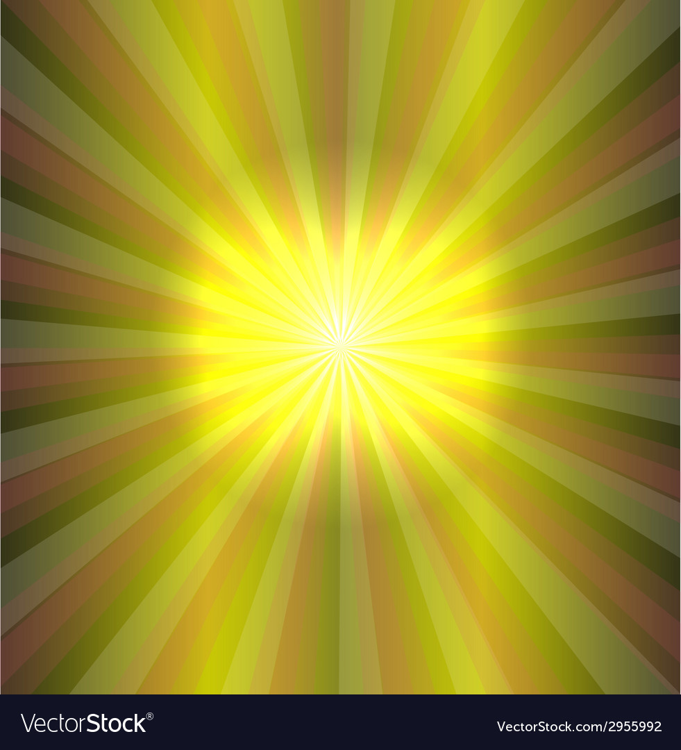 Sun on green background vector