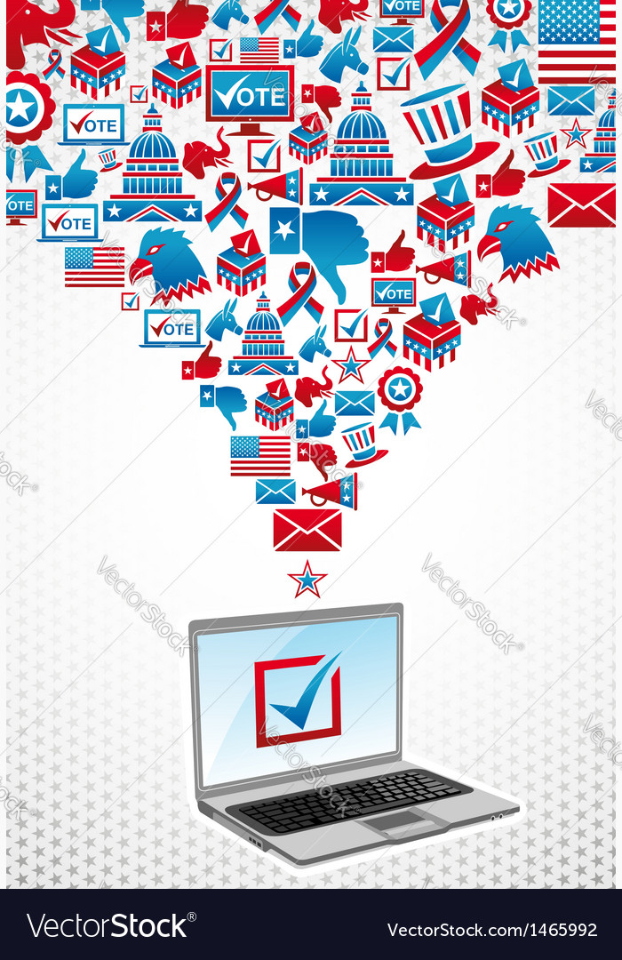 Usa elections electronic voting vector | Price: 1 Credit (USD $1)