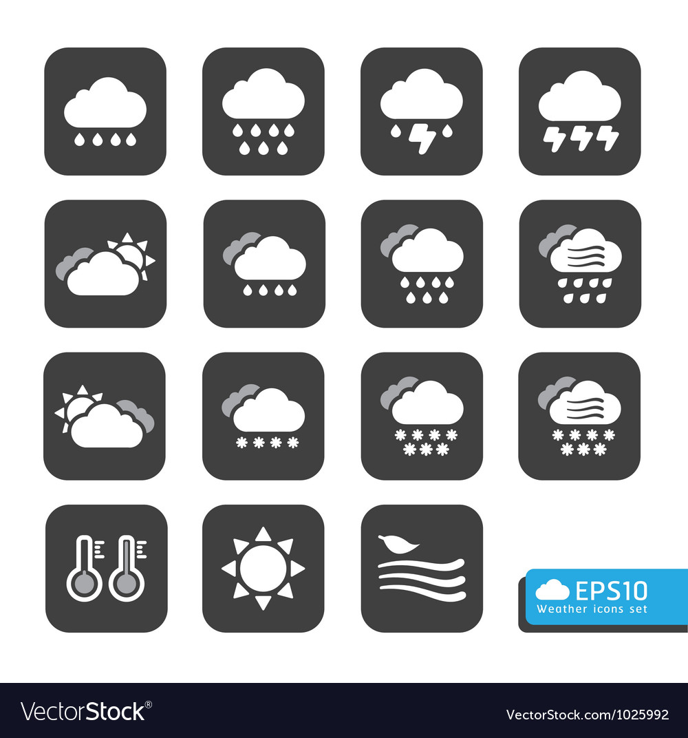 Weather web icons set for web template vector | Price: 1 Credit (USD $1)