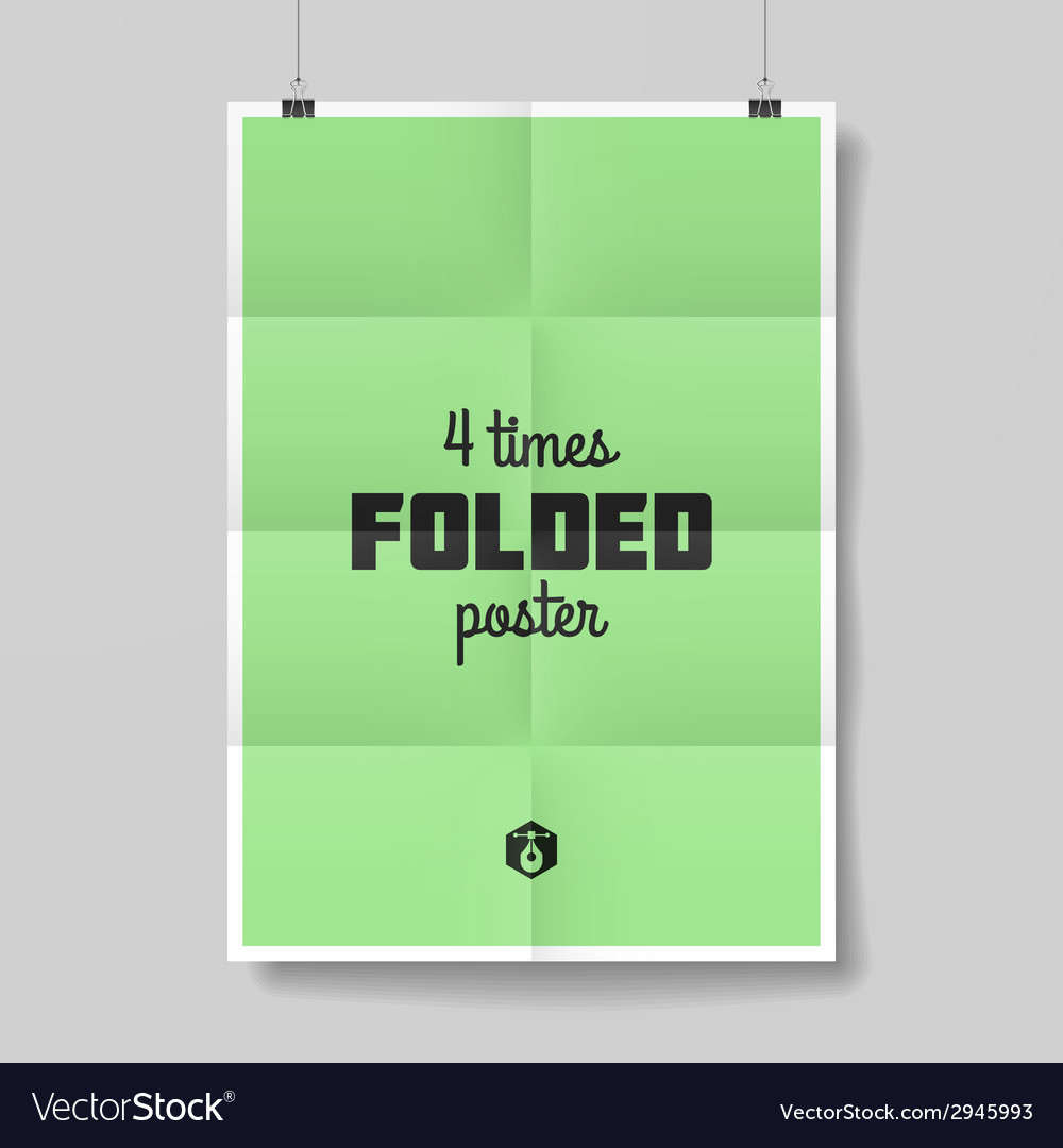 Four times folded poster vector | Price: 1 Credit (USD $1)