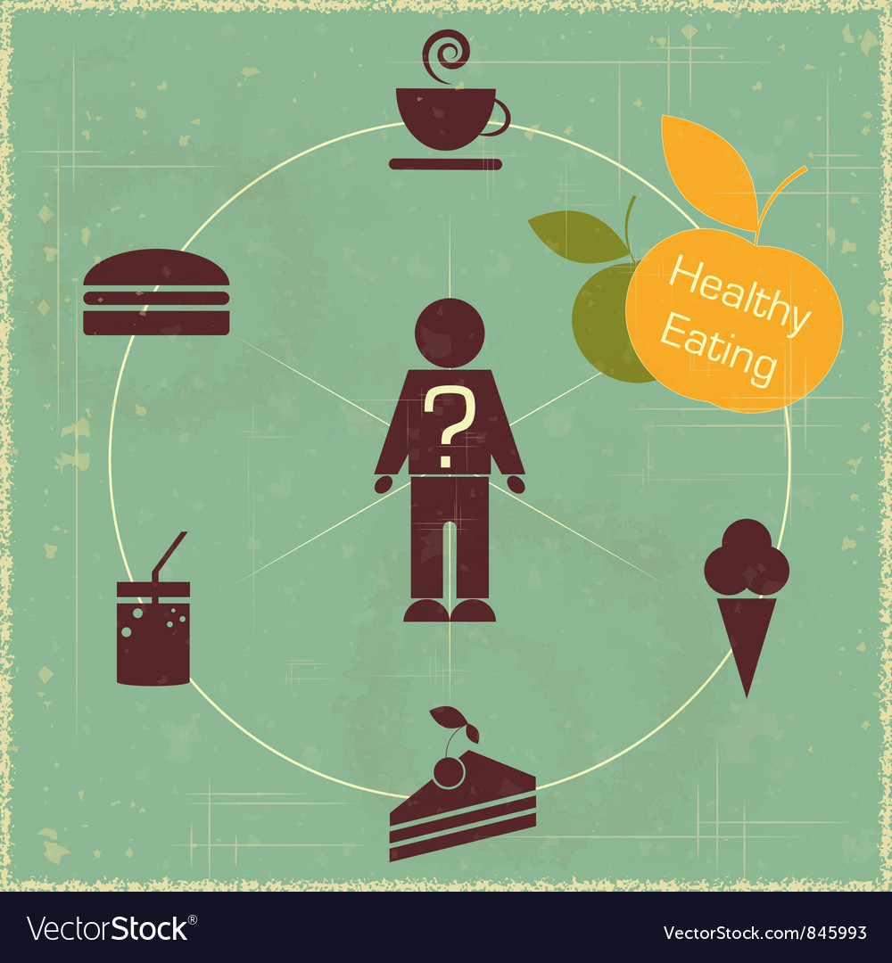 Healthy food concept vector | Price: 1 Credit (USD $1)