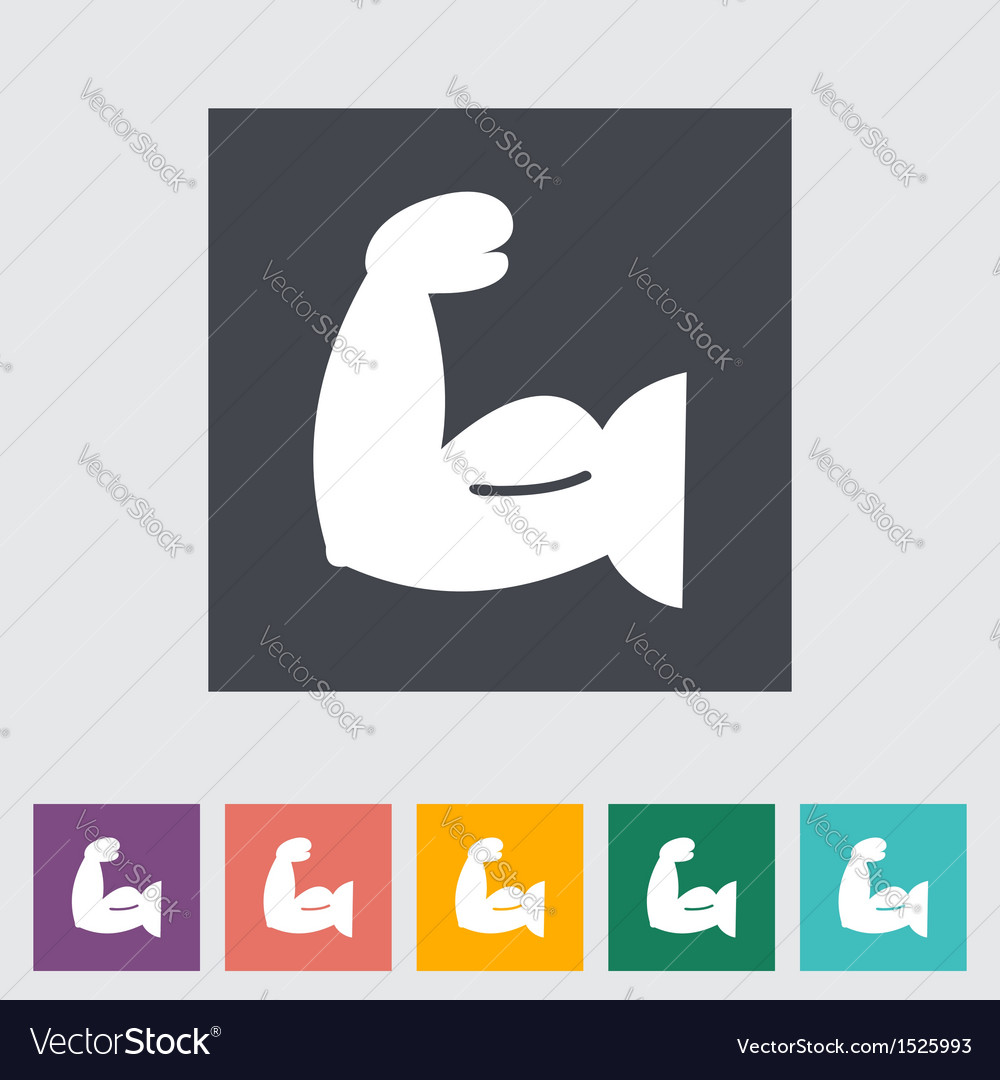 Icon of bodybuilding 2 vector | Price: 1 Credit (USD $1)