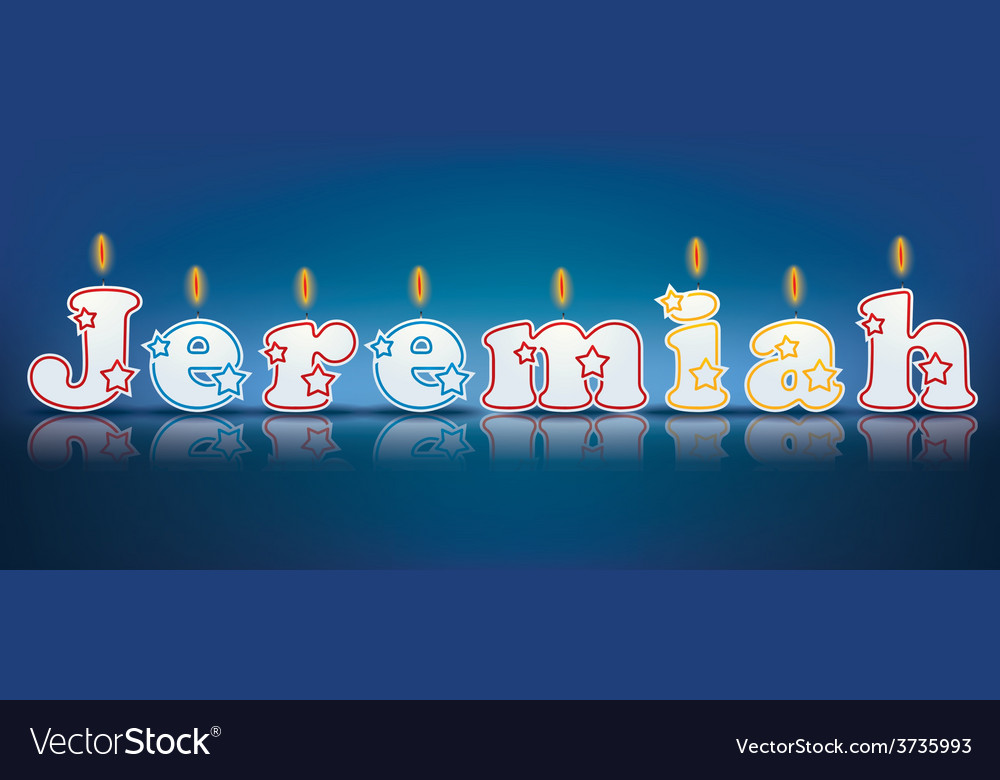 Jeremiah written with burning candles vector | Price: 1 Credit (USD $1)