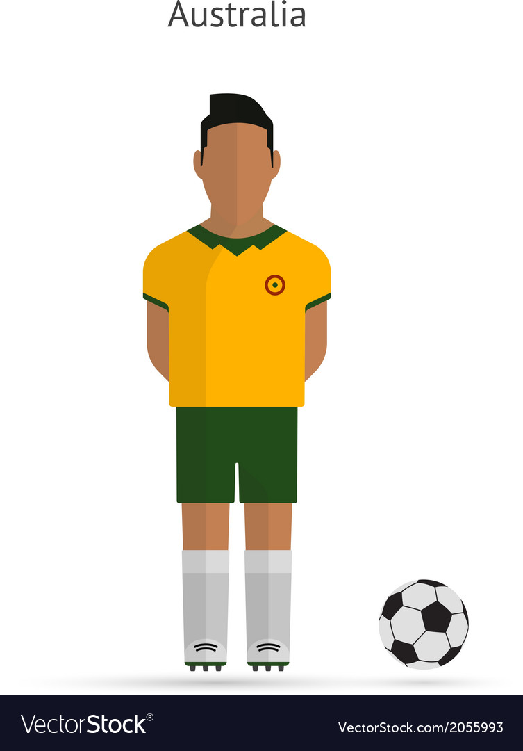 National football player australia soccer team vector | Price: 1 Credit (USD $1)