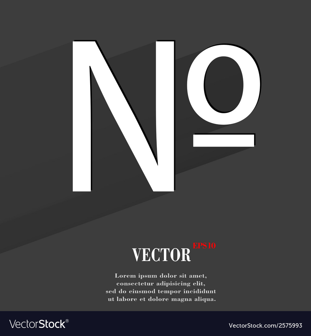 Number flat modern web button with long shadow and vector | Price: 1 Credit (USD $1)