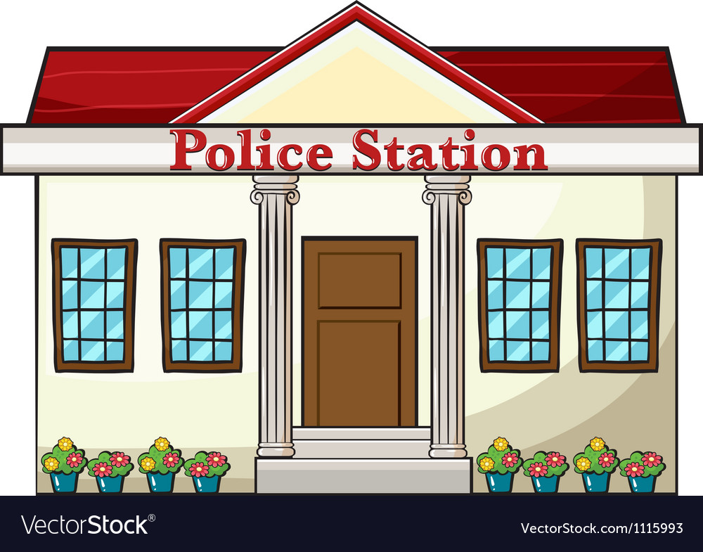 Police station vector | Price: 1 Credit (USD $1)