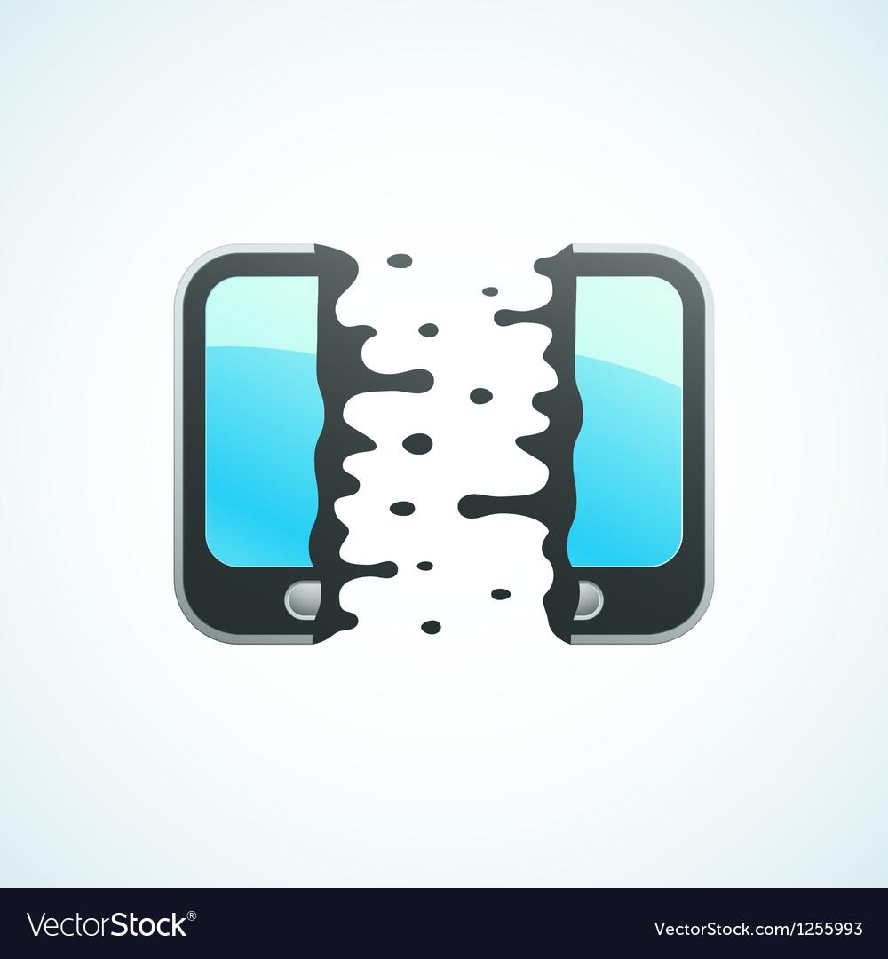 Split mobile phone vector | Price: 1 Credit (USD $1)