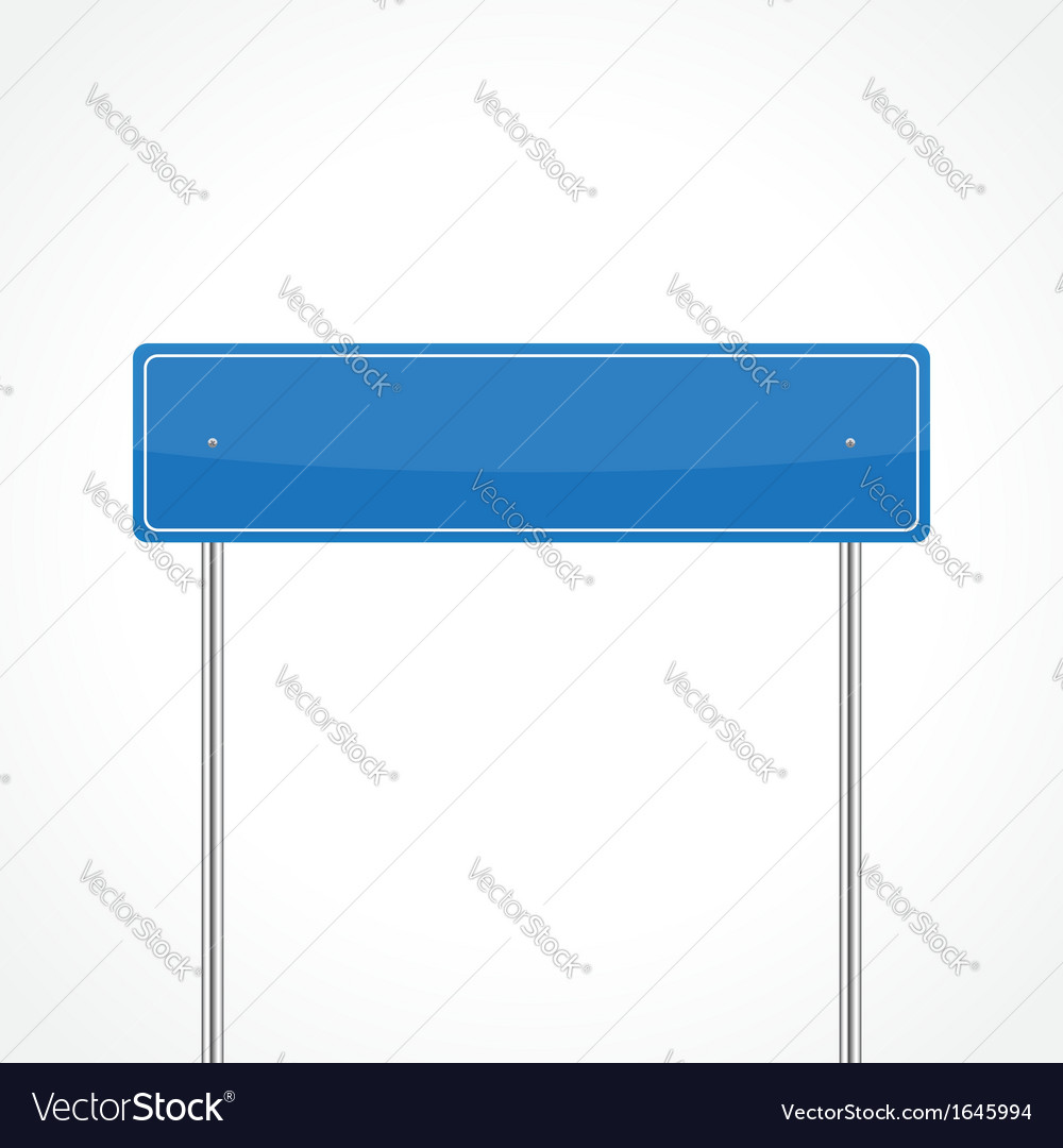 Blue traffic sign vector | Price: 1 Credit (USD $1)