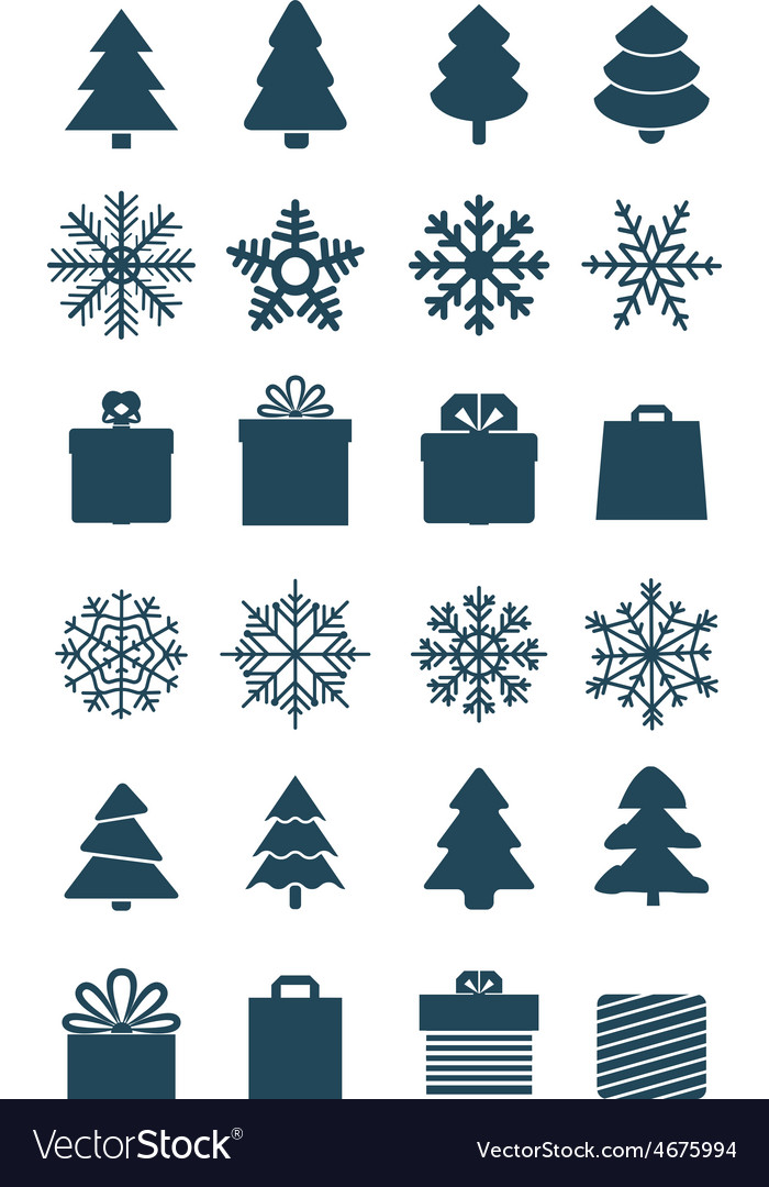 Christmas season elements collection vector | Price: 1 Credit (USD $1)
