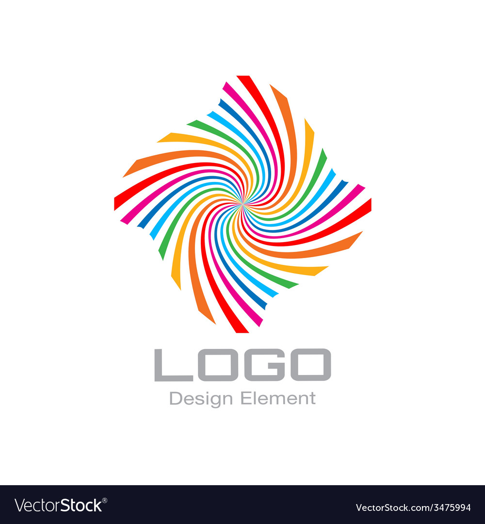Colorful bright rainbow spiral logo vector | Price: 1 Credit (USD $1)