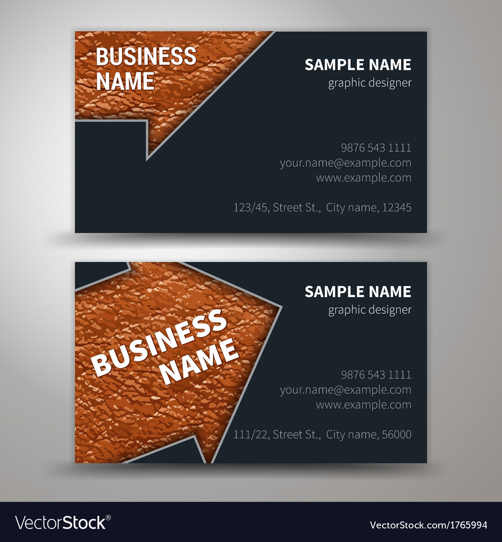 Creative business cards set template vector | Price: 1 Credit (USD $1)