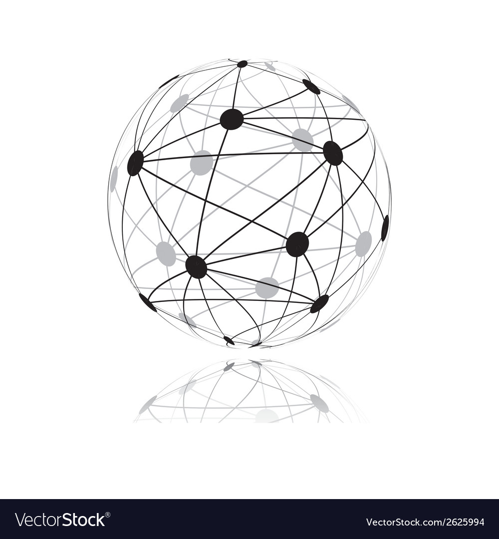 Global network vector | Price: 1 Credit (USD $1)