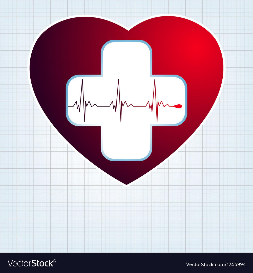 Heart with cardiogram eps 10 vector | Price: 1 Credit (USD $1)