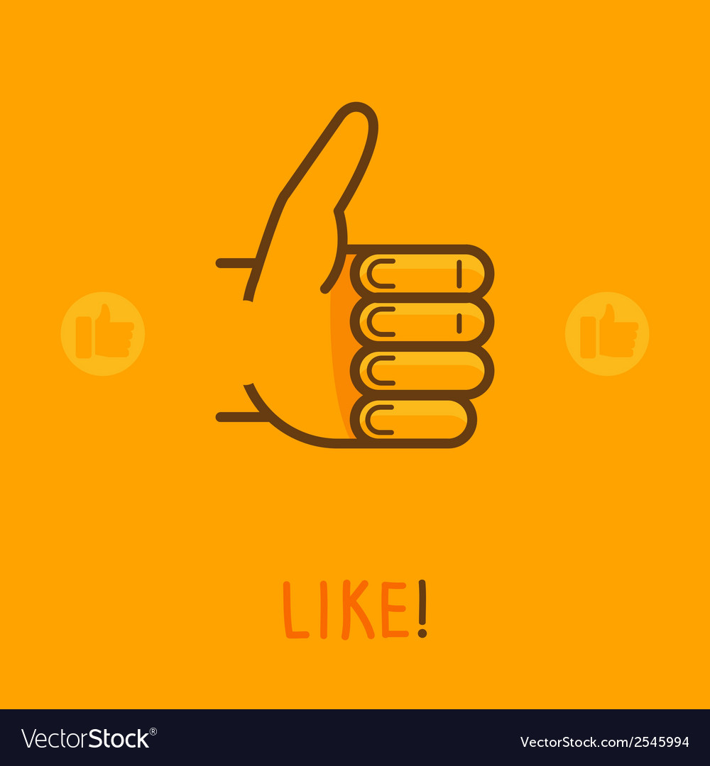 Like sign in outline style vector | Price: 1 Credit (USD $1)