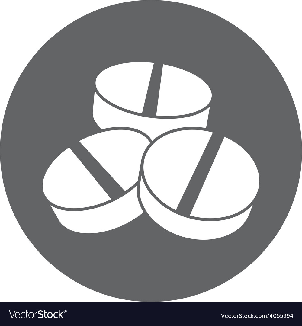 Medical pill icon vector | Price: 1 Credit (USD $1)