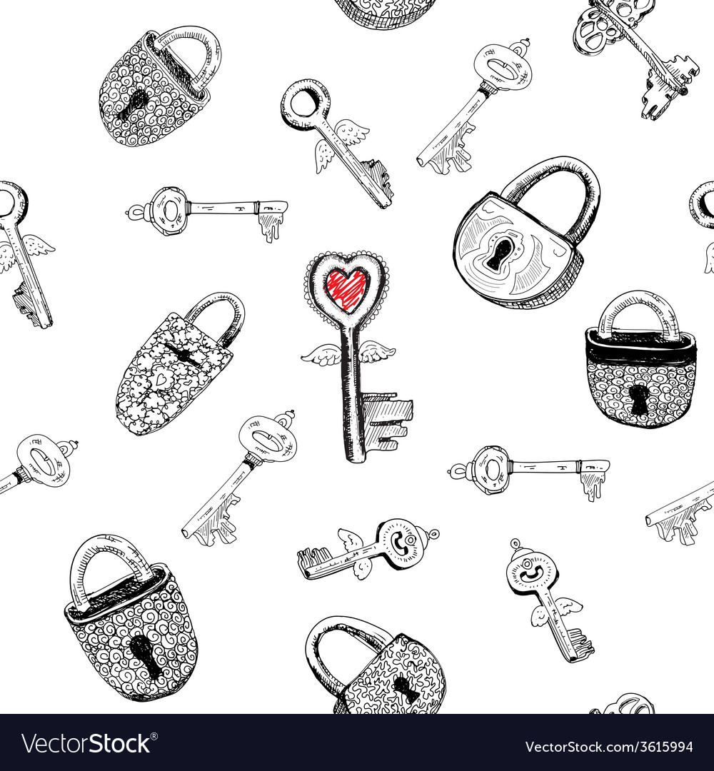 Padlocks and keys vector | Price: 1 Credit (USD $1)