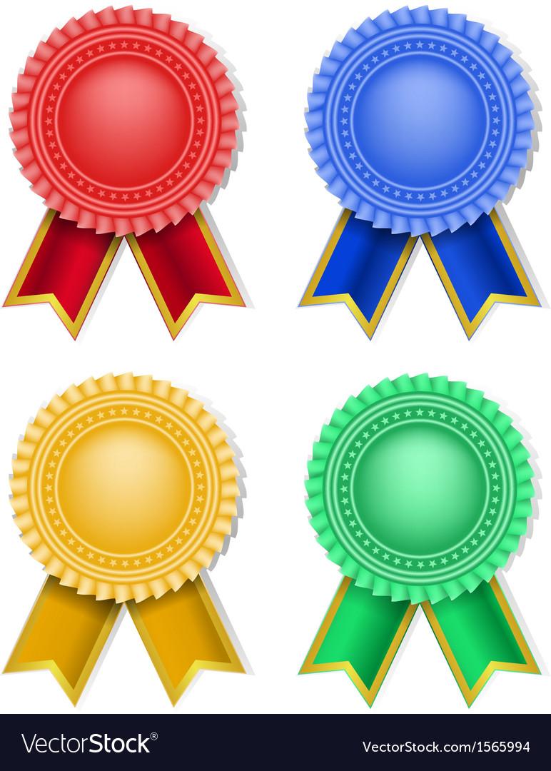 Ribbons badge vector | Price: 1 Credit (USD $1)