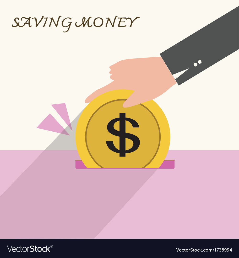 Saving vector | Price: 1 Credit (USD $1)