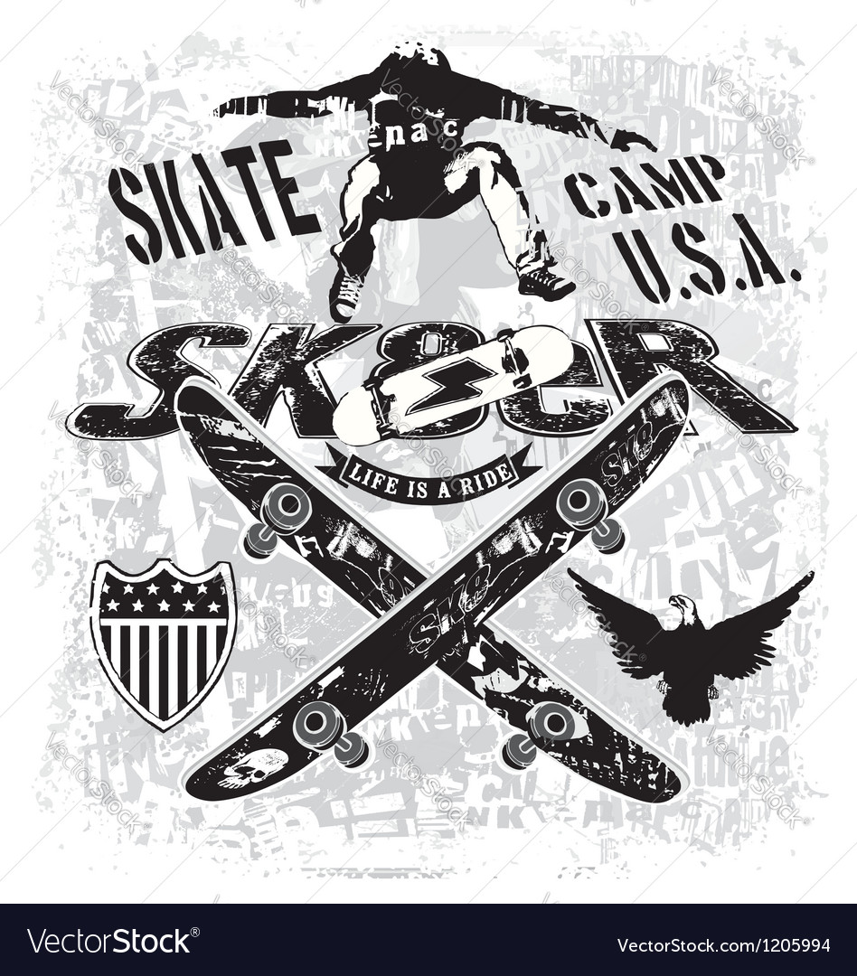 Usa skate camp vector | Price: 3 Credit (USD $3)