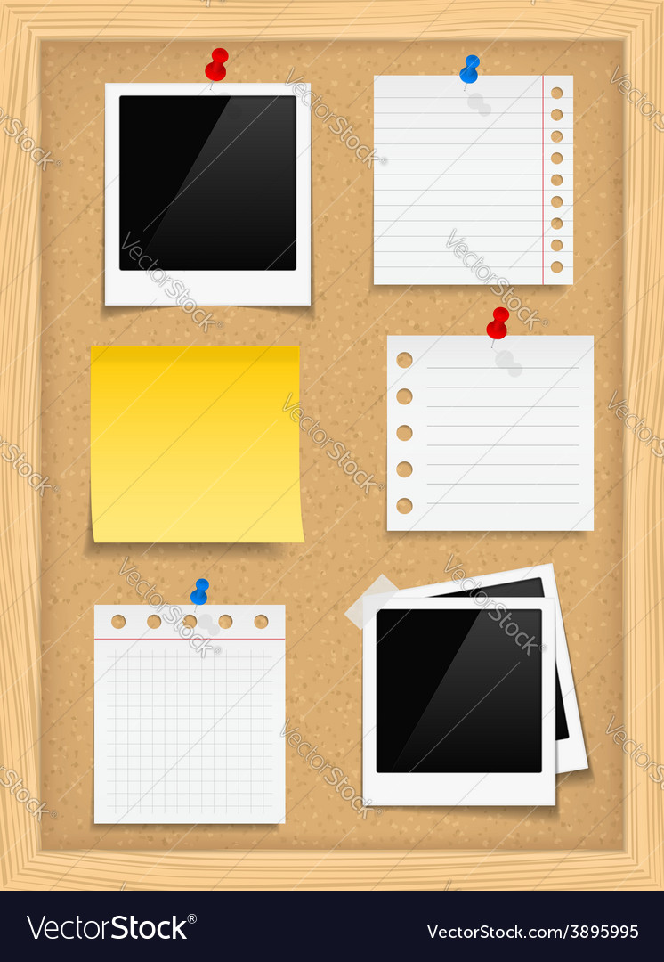 Bulletin board vector | Price: 1 Credit (USD $1)