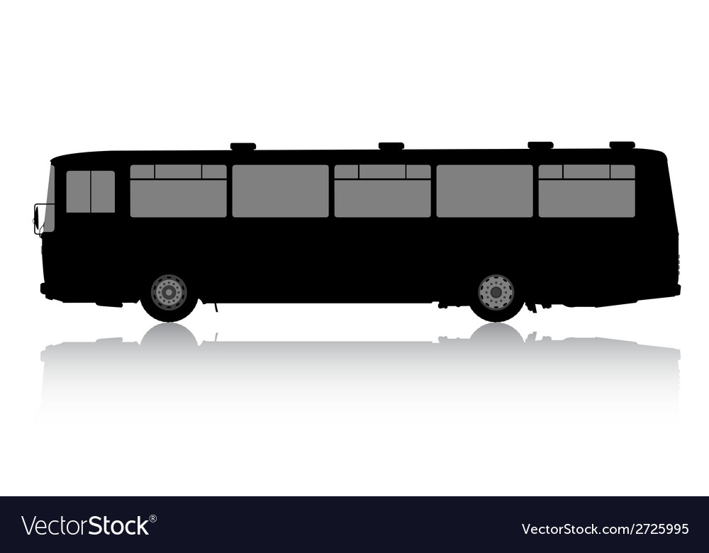 Bus silhouette on a white background vector | Price: 1 Credit (USD $1)