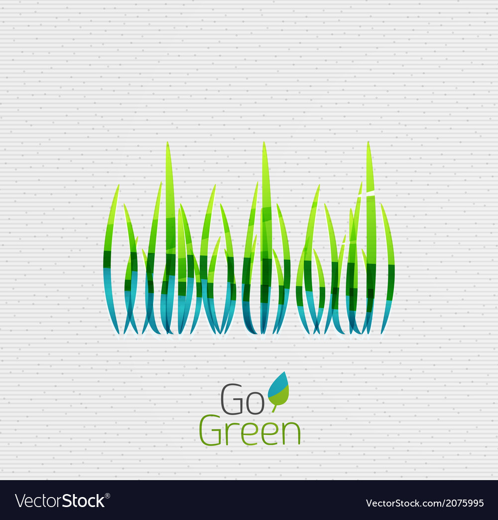 Green grass nature concept vector | Price: 1 Credit (USD $1)