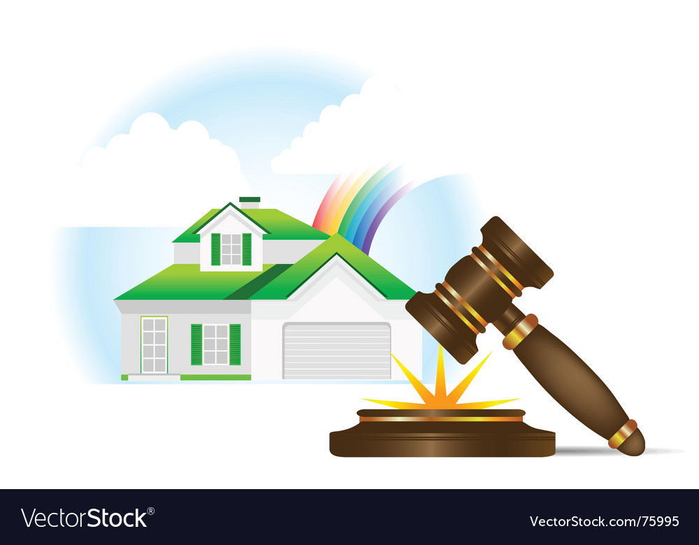 Home and gavel real estate vector | Price: 1 Credit (USD $1)