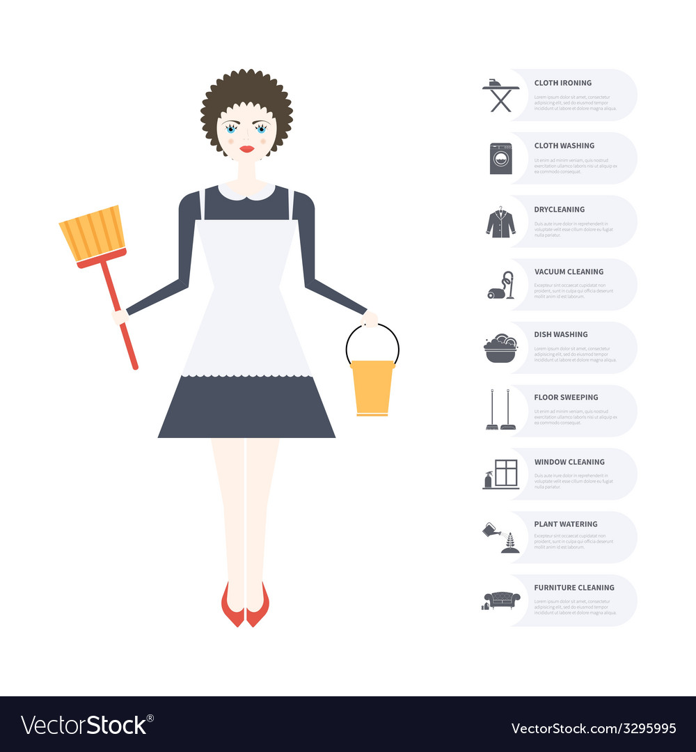 Housecleaning infographic vector   Price: 1 Credit (USD $1)