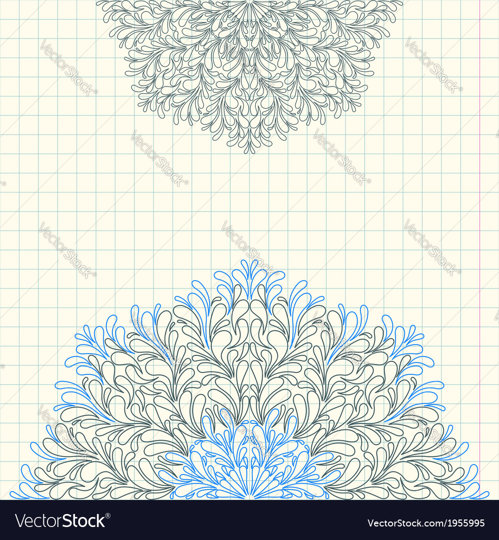 Invitation card by hand with a ballpoint pen vector | Price: 1 Credit (USD $1)