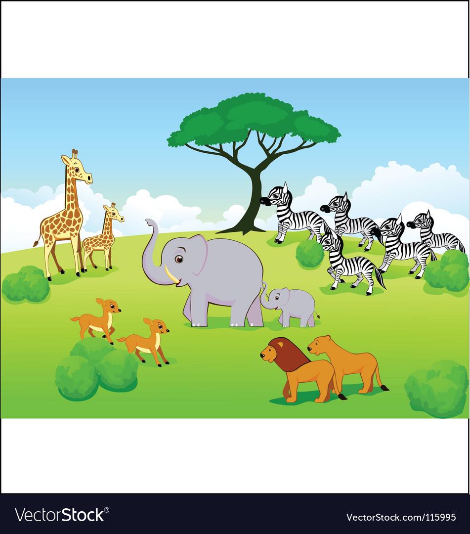 Safari africa vector | Price: 3 Credit (USD $3)