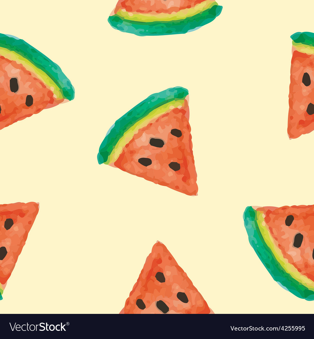 Seamless of watermelon vector | Price: 1 Credit (USD $1)