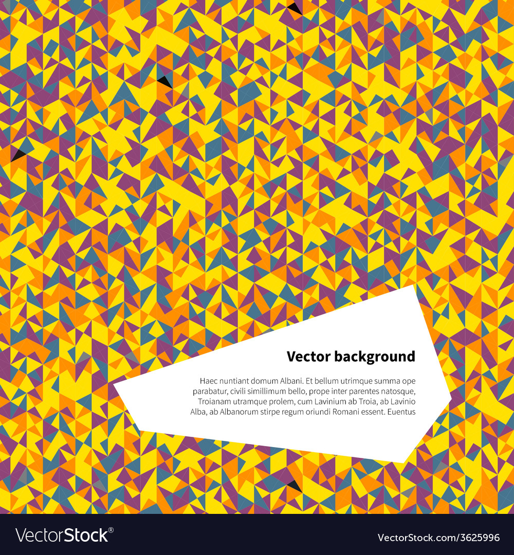 Abstract background of mosaic pattern colorful vector   Price: 1 Credit (USD $1)