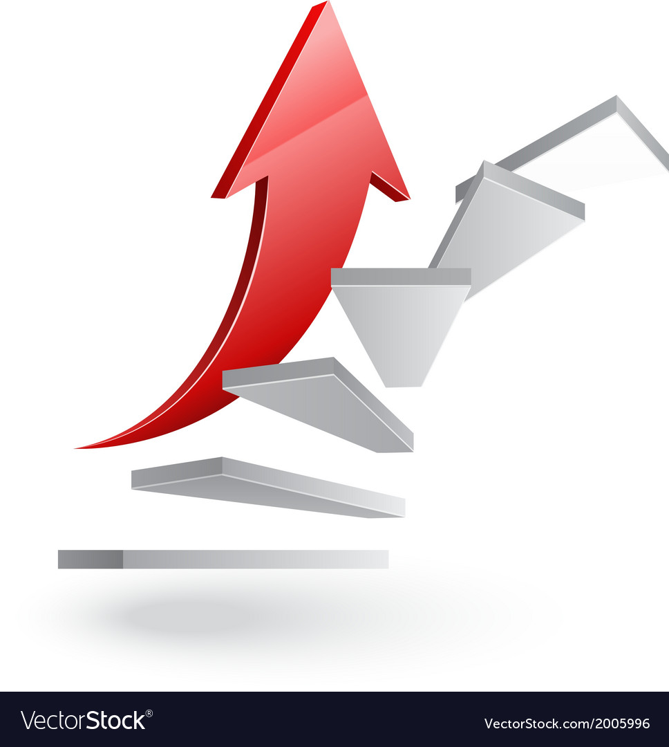 Business stairs to success vector | Price: 1 Credit (USD $1)