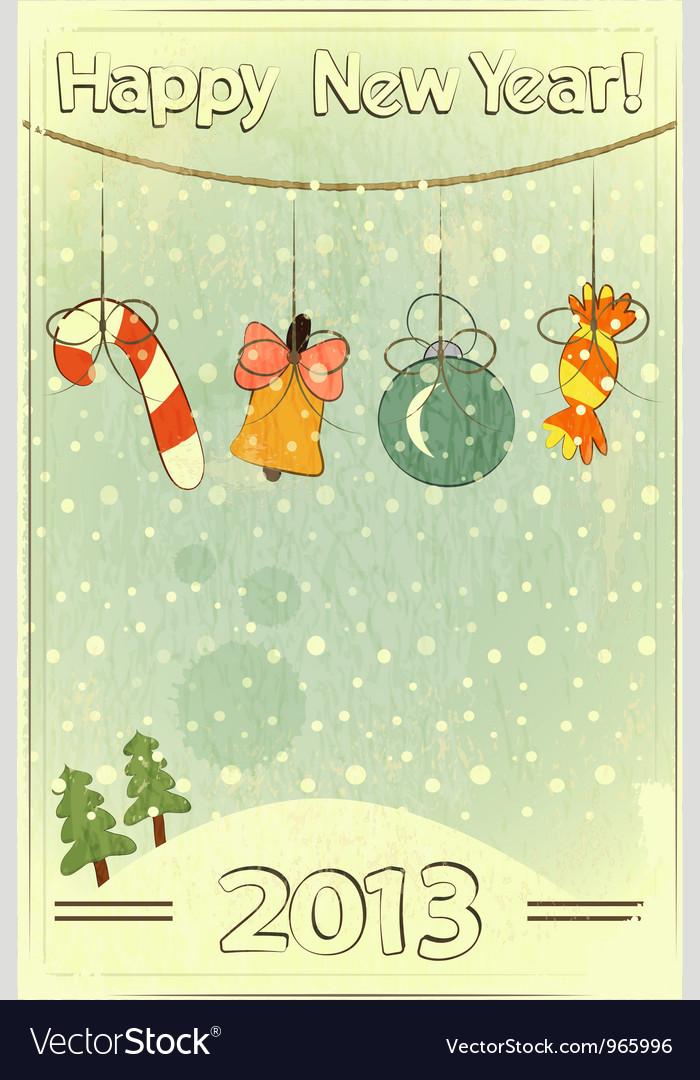 Christmas retro vector | Price: 1 Credit (USD $1)