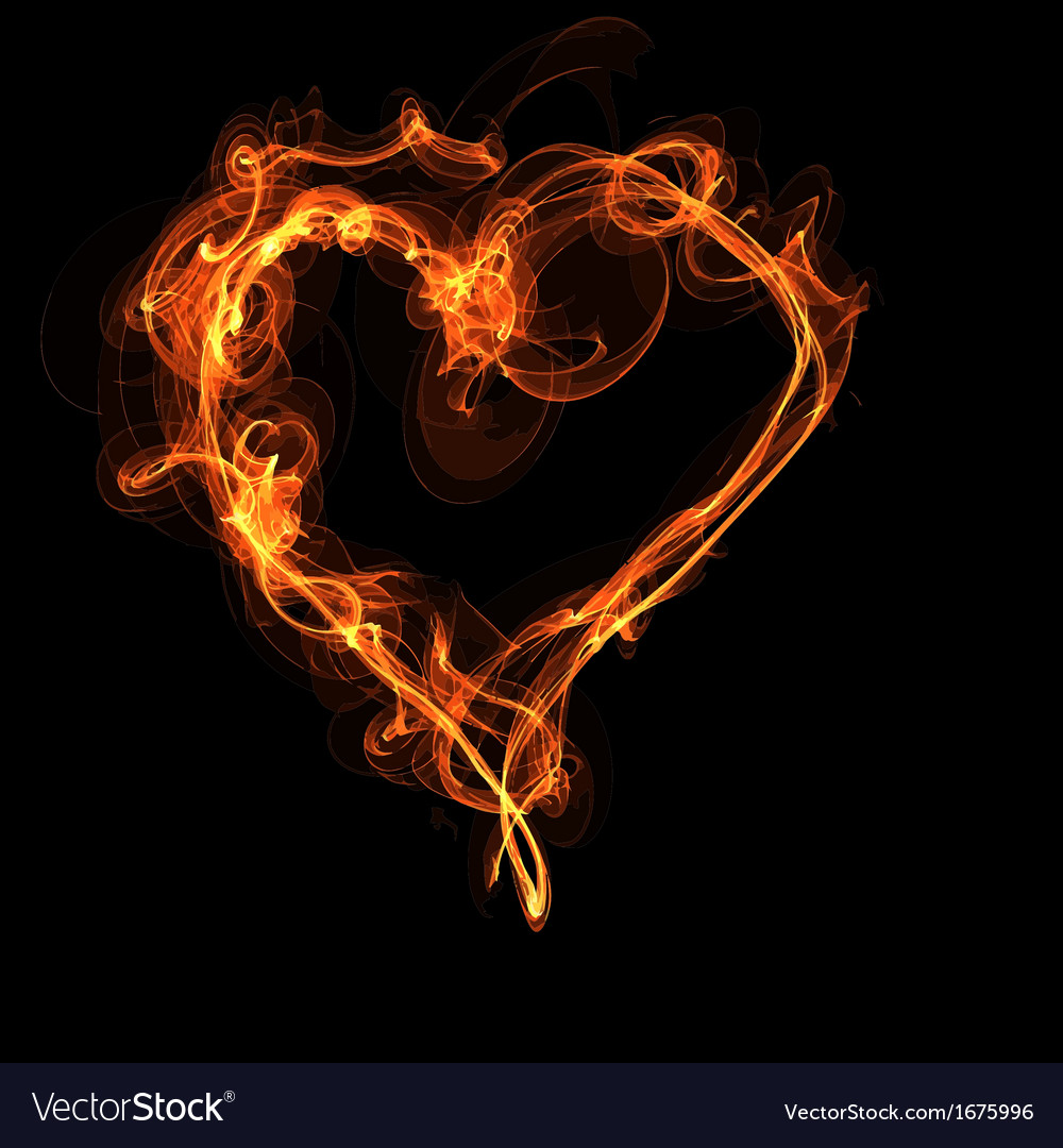 Fire heart vector | Price: 1 Credit (USD $1)