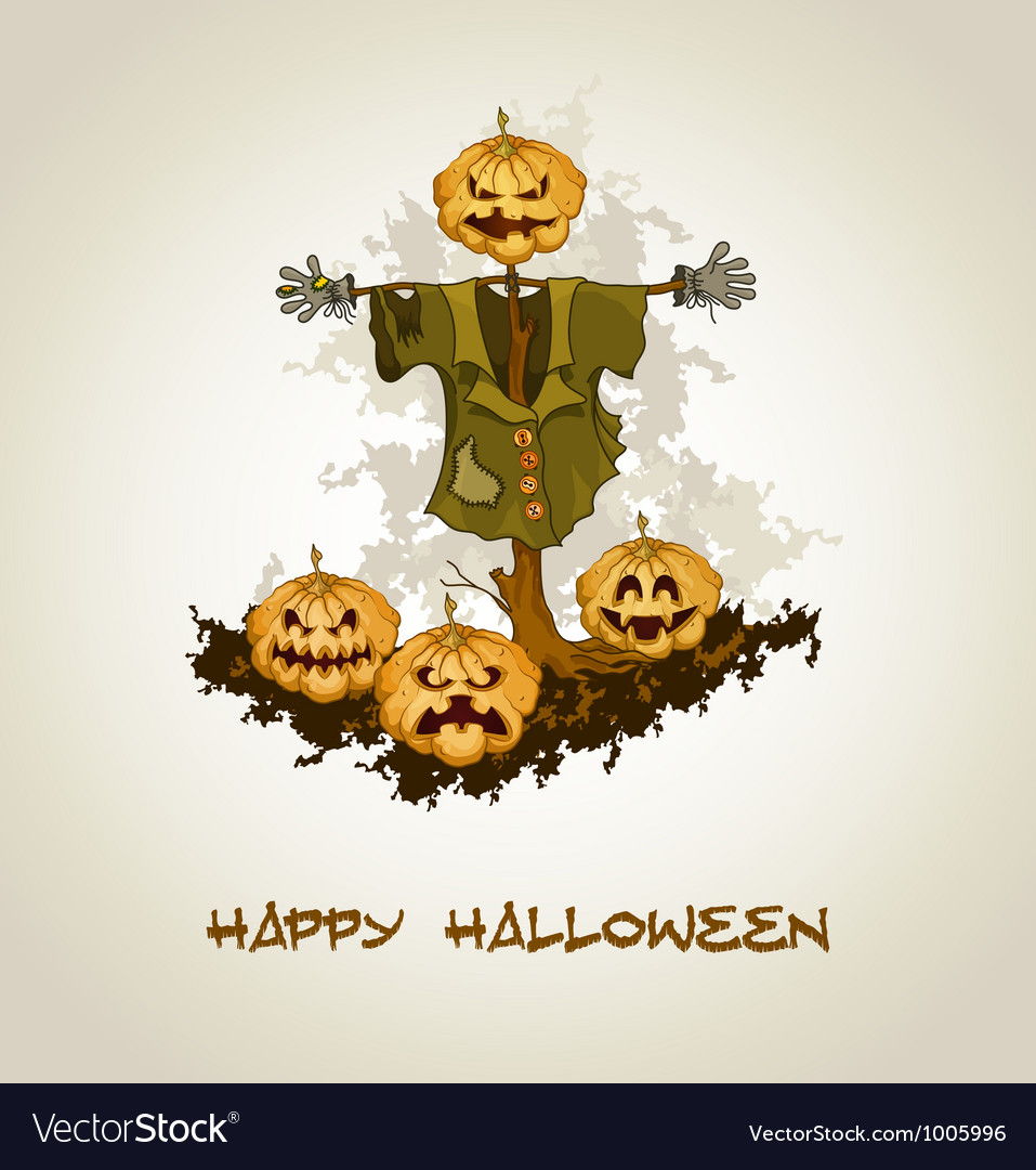 Halloween background with jack o lantern vector   Price: 1 Credit (USD $1)