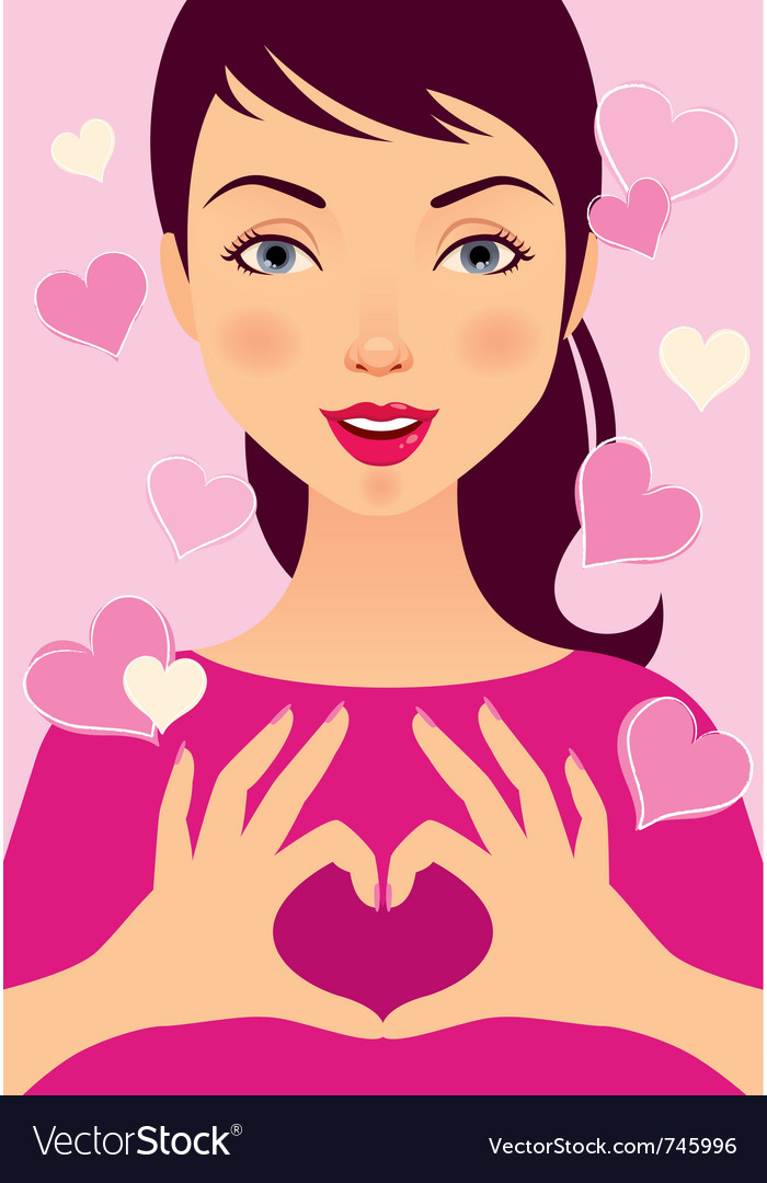 Love girl vector | Price: 3 Credit (USD $3)
