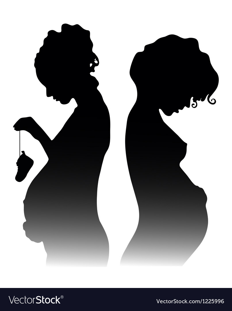 Pregnant girls vector | Price: 1 Credit (USD $1)