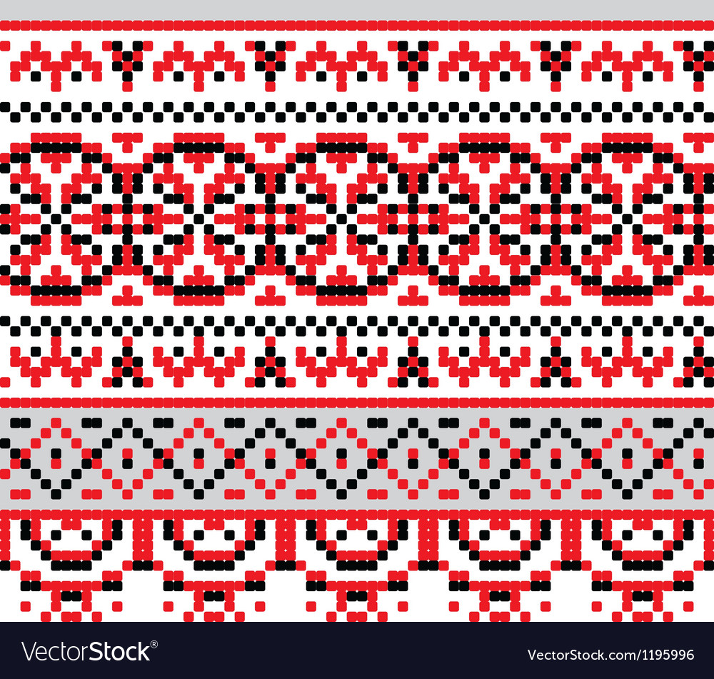Ukrainian ethnic stitch pattern vector | Price: 1 Credit (USD $1)