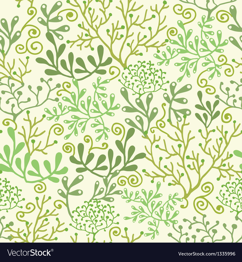 Underwater seaweed garden seamless pattern vector | Price: 1 Credit (USD $1)