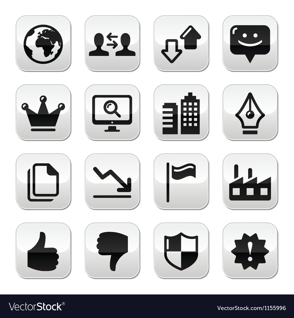 Web internet buttons set - vector | Price: 1 Credit (USD $1)