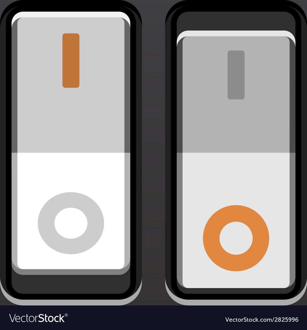 White toggle power switches vector | Price: 1 Credit (USD $1)
