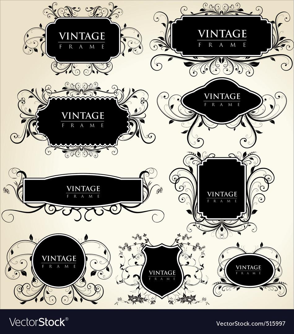 Elegance vintage frames vector | Price: 1 Credit (USD $1)