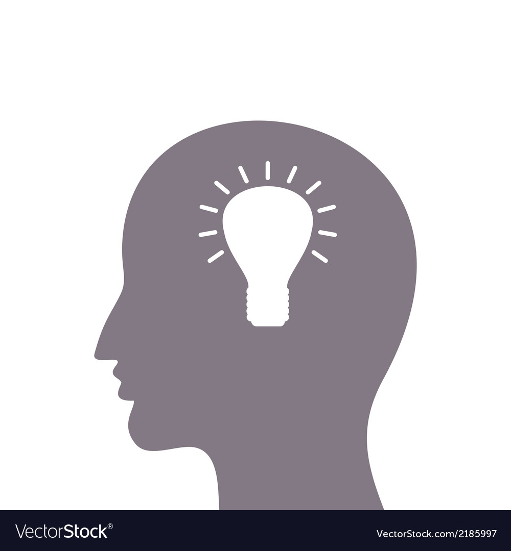 Head a bulb vector | Price: 1 Credit (USD $1)